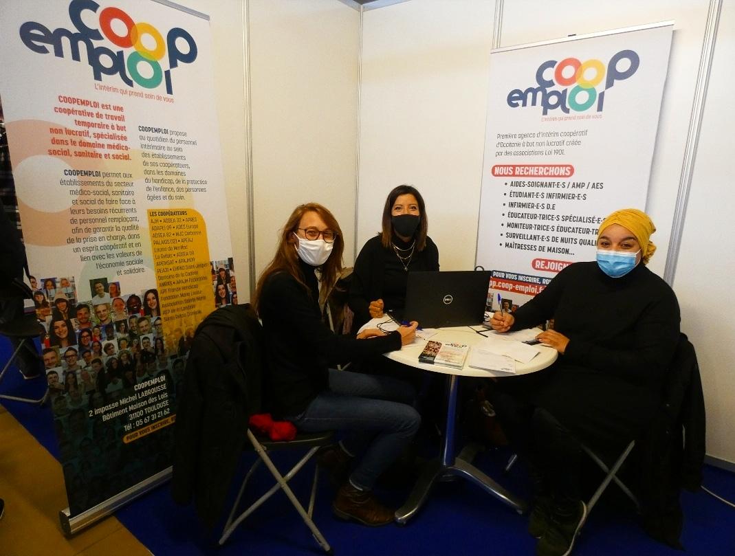 Coopemploi était au Salon Travail-Avenir-Formation, le TAF à Pamiers en Ariège.